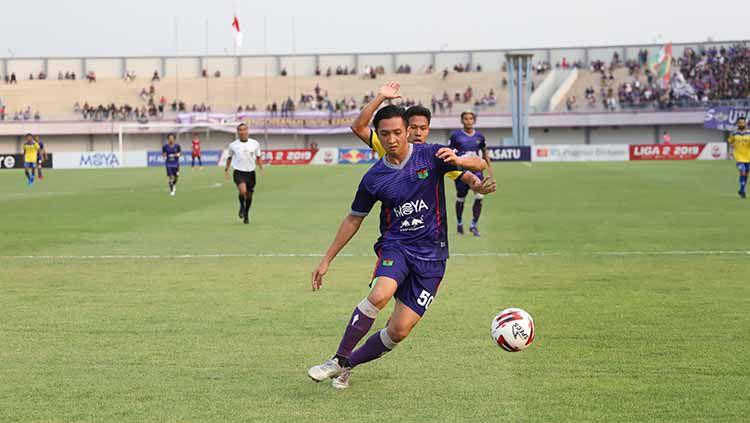 Chandra Waskito berhasil membawa Persita Tangerang mengalahkan PSCS Cilacap pada laga pekan ke-13 Liga 2 2019, Kamis (29/08/19). Foto: Media Persita Copyright: © Media Persita