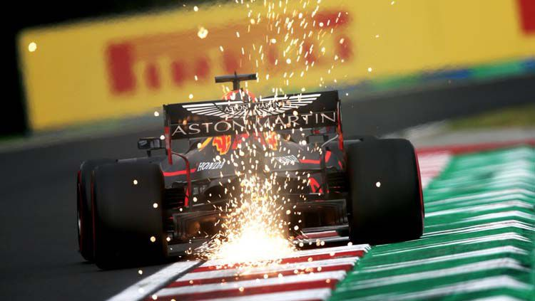 Pembalap Red Bull Max Verstappen di Formula 1 2019. Copyright: © Twitter/@HondaRacingF1