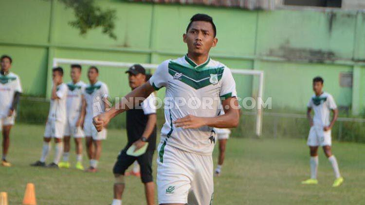 Pemain bertahan PSMS Medan, Afiful Huda sudah bisa tampil menghadapi Blitar Bandung United di Liga 2 2019. Copyright: © Aldi Aulia Anwar/INDOSPORT