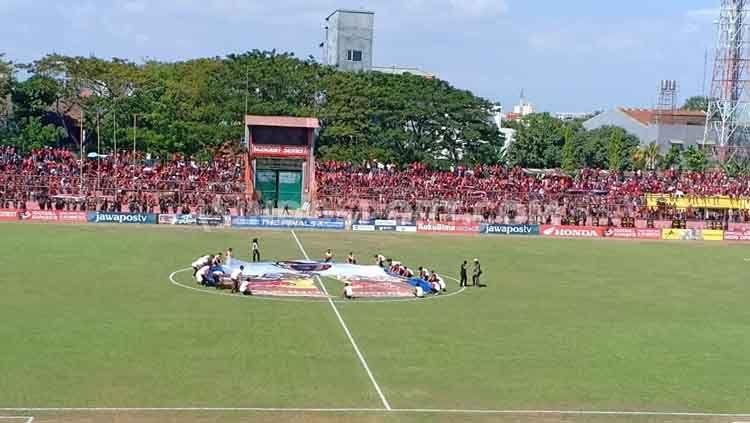 Persiapan jelang laga final Piala Indonesia antara PSM Makassar vs Persija Jakarta di Stadion Andi Mattalatta, Makassar. Copyright: © Adriyan Adirizky Rahmat/INDOSPORT