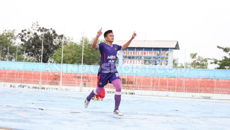 Gol semata wayang Sirvi Arfani menentukan kemenangan Persita Tangerang atas PSGC Ciamis dengan skor 1-0 di laga Liga 2 pekan ke-12 pada Kamis (22/8/19). Copyright: © Media Persita