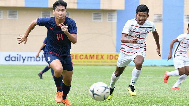 Timnas Thailand U-18 kalah 3-4 dari Kamboja di Piala AFF U-18 2019. Copyright: © FA Thailand