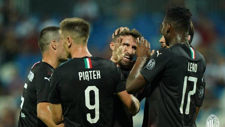 AC Milan belum akan menurunkan semua rekrutan barunya di starting line-up melawan Udinese (25/8/19). Copyright: © AC Milan