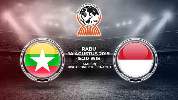 Laga perebutan tempat ketiga Piala AFF U-18 2019 antara Indonesia melawan Myanmar pada Senin (19/8/19) pukul 16.30 WIB bisa disaksikan di kanal streaming SCTV. Copyright: © INDOSPORT