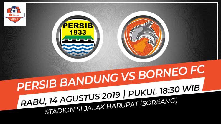 Pertandingan Persib Bandung vs Borneo FC. Copyright: © Grafis: Indosport.com
