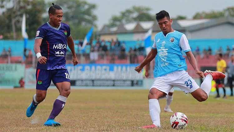 Duel pertandingan Persita vs Blitar di Stadion Depati Amir pekan 10 Liga 2 2019. Copyright: © twitter@Liga2Match