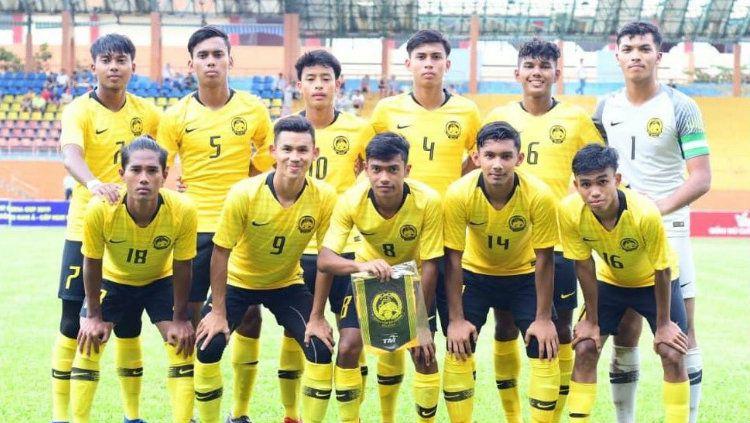 Timnas Malaysia U-18 nyatakan rasa pesimis jelang bertemu Indonesia di semifinal Piala AFF U-18 2019. Copyright: © twitter.com/FAM_Malaysia