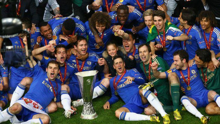 Chelsea saat juara Piala Super Eropa tahun 2012. Copyright: © skysports