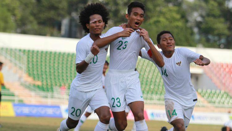 Potret laga Timnas Indonesia U-18 vs Myanmar para Rabu (14/08/19) di Stadion Thong Nhat, Vietnam. Copyright: © Media PSSI
