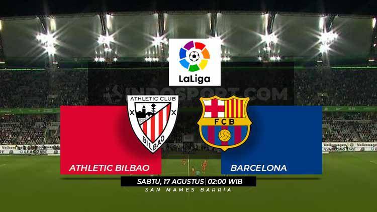 Prediksi Athletic Bilbao vs Barcelona La Liga Spanyol 2018/19. Copyright: © Grafis: Eli Suhaeli/INDOSPORT