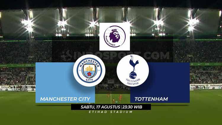 Susunan Pemain Liga Primer Inggris Manchester City vs Tottenham Copyright: © Grafis: Eli Suhaeli/INDOSPORT