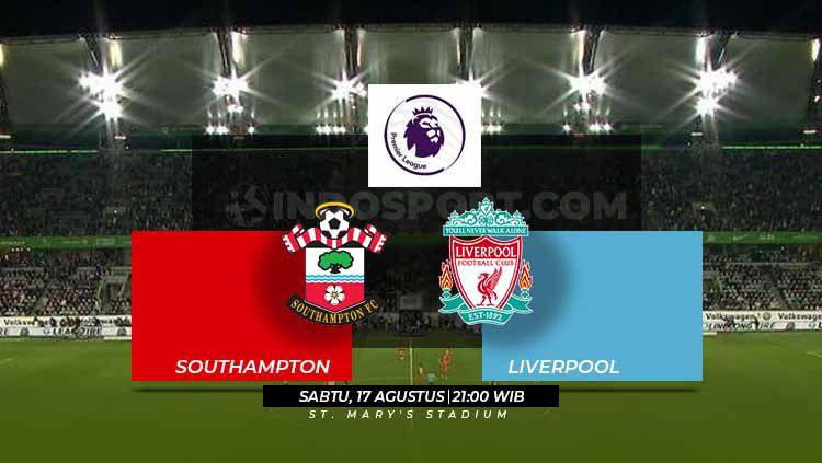 Laga pekan kedua Liga Primer Inggris 2019/20 antara Southampton melawan Liverpool pada Sabtu (17/8/19) pukul 21.00 WIB bisa disaksikan di Mola TV. Copyright: © Grafis: Eli Suhaeli/INDOSPORT
