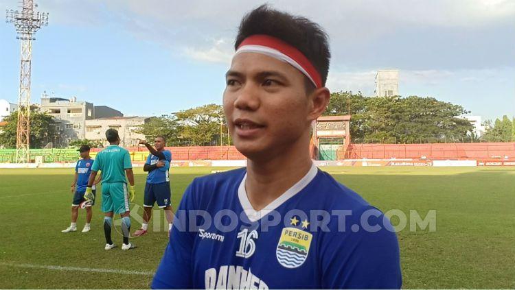 Bek Persib Bandung, Achmad Jufrianto. Copyright: © Adriyan Adirizky/INDOSPORT
