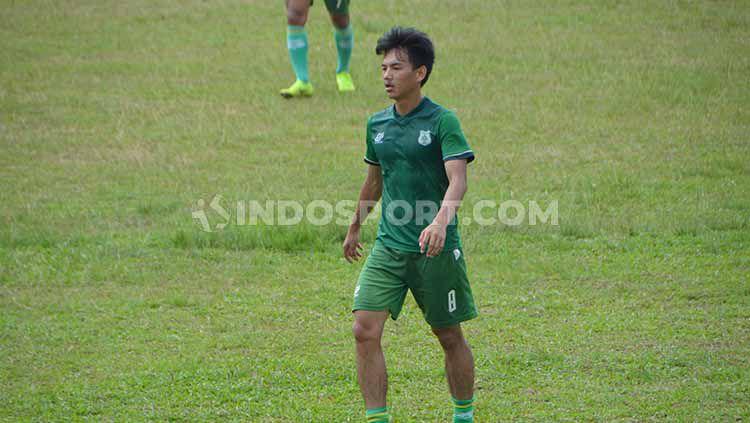 Eks Pemain PSMS Medan dan Timnas U-19 Indonesia, Muhammad Iqbal. Copyright: © Aldi Aulia Anwar/INDOSPORT