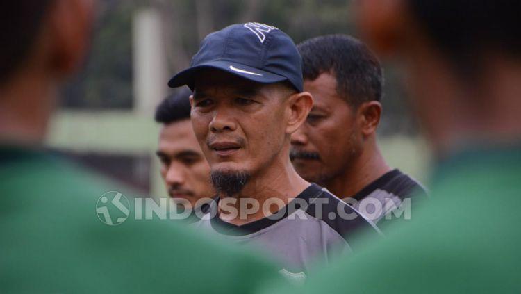 Asisten Pelatih PSMS Medan, Edi Syahputra. Copyright: © Aldi Aulia Anwar/INDOSPORT