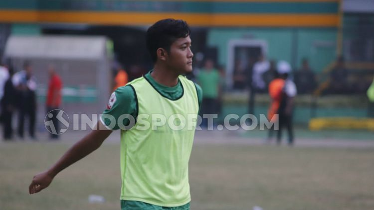 Eks pemain PSMS Medan, Dimas Sumantri. Copyright: © Aldi Aulia Anwar/INDOSPORT
