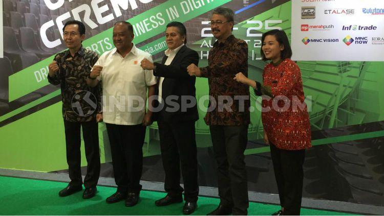 "Upacara pembukaan ISEF 2019 di Jakarta Convention Center, Rabu (21/08/19), mengusung tema ""Driving The Sports Business in Digital Era"". Copyright: © Karina Kusuma Wijaya/INDOSPORT"