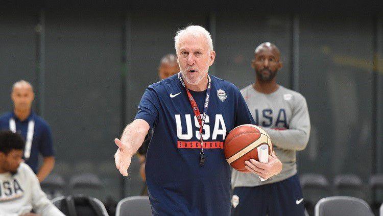 Pelatih Timnas Basket Amerika Serikat, Gregg Popovich, ungkap pesaing terberat di FIBA World Cup 2019. Copyright: © usab.com