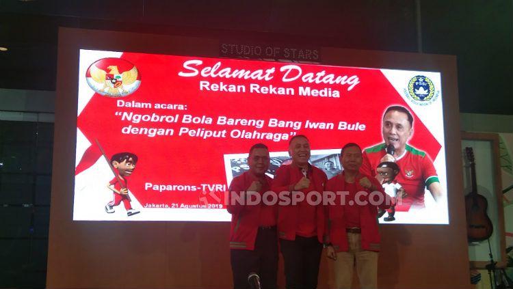 Iwan Bule maju sebagai calon ketua umum PSSI. Copyright: © Zainal Hasan/INDOSPORT