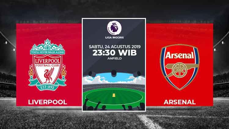 Liverpool vs Arsenal di Liga Inggris musim 2019/20. Copyright: © Grafis: Eli Suhaeli/INDOSPORT