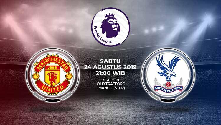 Pertandingan Manchester United vs Crystal Palace. Copyright: © Grafis: Yanto/Indosport.com