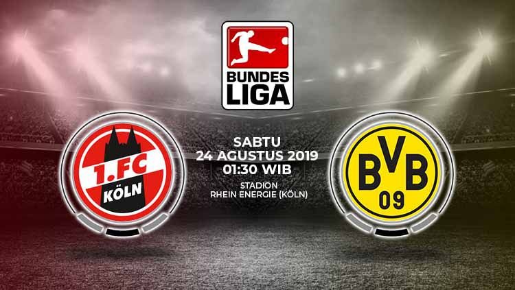 Pertandingan FC Koln vs Borussia Dortmund. Copyright: © Grafis: Yanto/Indosport.com