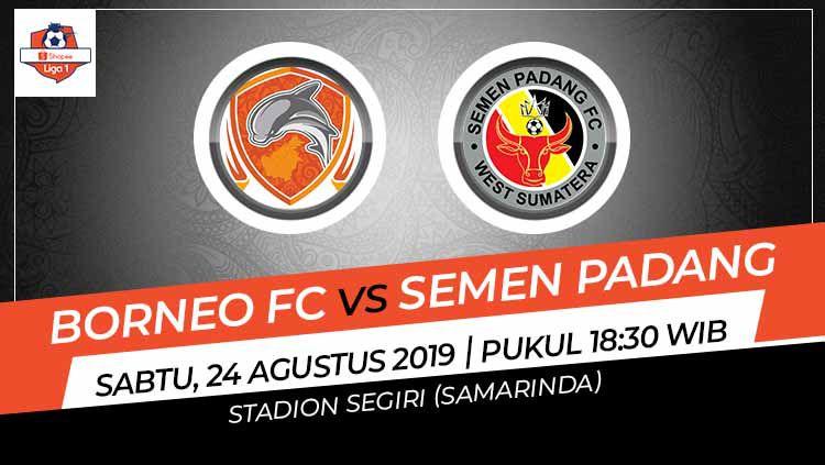 Pertandingan Borneo FC vs Semen Padang. Copyright: © Grafis: Indosport.com