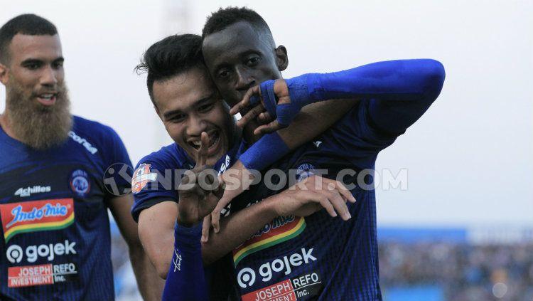 Makan Konate dkk menjadikan Arema FC tim dengan produktivitas gol tinggi. Copyright: © Ian Setiawan/INDOSPORT