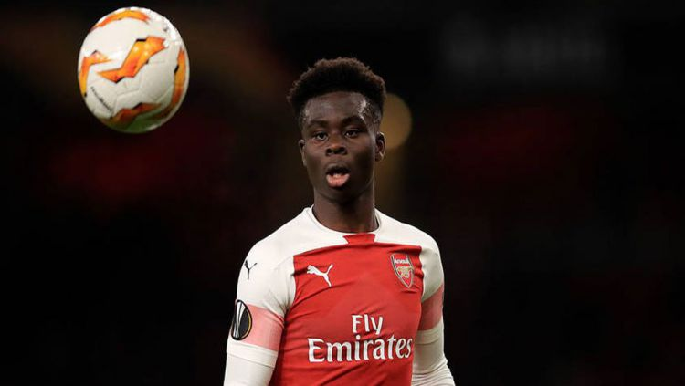 Arsenal dinilai terlalu boros mendatangkan Nicolas Pepe usai penampilan apik Bukayo Saka di Liga Europa. Copyright: © Getty Images