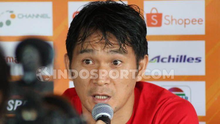 Bek Bali United, Michael Orah, tak menutup peluang untuk bergabung dengan klub Liga 2, Sulut United. Copyright: © Nofik Lukman/INDOSPORT