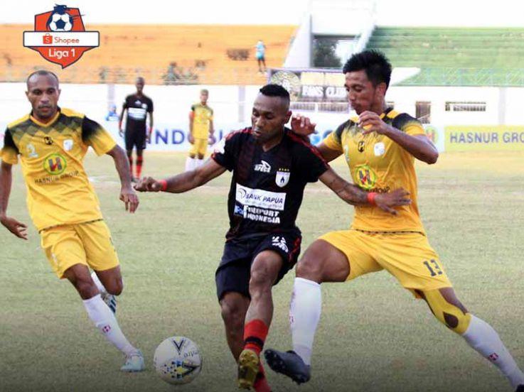 Hasil Pertandingan Liga 1 2019 Barito Putera vs Persipura: Pesta Gol Mutiara Hitam