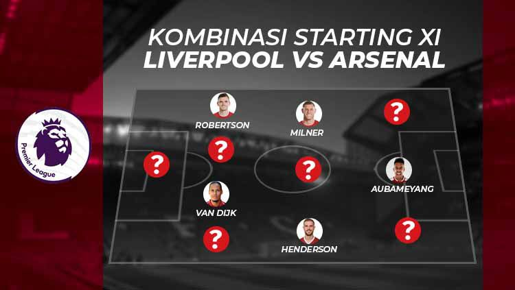 Kombinasi starting XI Liverpool vs Arsenal. Copyright: © Grafis: Eli Suhaeli/INDOSPORT
