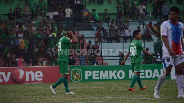 Laga pertandingan PSMS Medan vs PSPS Riau di Stadion Teladan, Medan, Sabtu (24/08/2019). Copyright: © Aldi Aulia Anwar/INDOSPORT