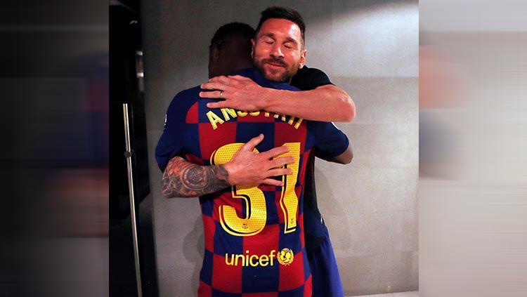 Penghinaan bagi Lionel Messi, Ansu Fati yang jadi harapan terakhir Barcelona pilih membelot ke Jorge Mendes selaku agensi Cristiano Ronaldo. Copyright: © Instagram/@leomessi