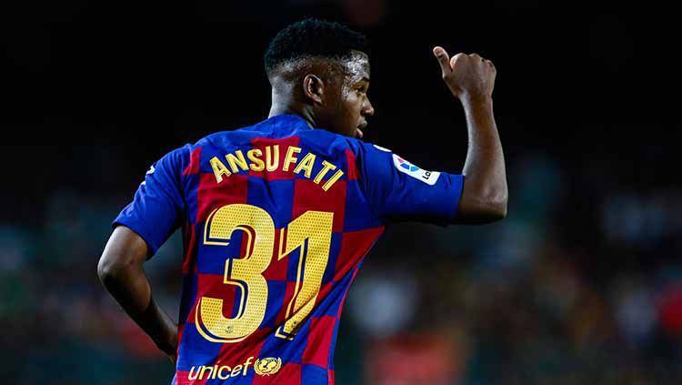 Ansu Fati striker muda Barcelona berusia 16 tahun. Copyright: © Xavier Bonilla/NurPhoto via Getty Images