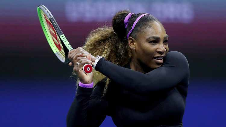 Serena Williams mengalahkan Maria Sharapova di babak pertama AS Terbuka 2019. Copyright: © Matthew Stockman/Getty Images