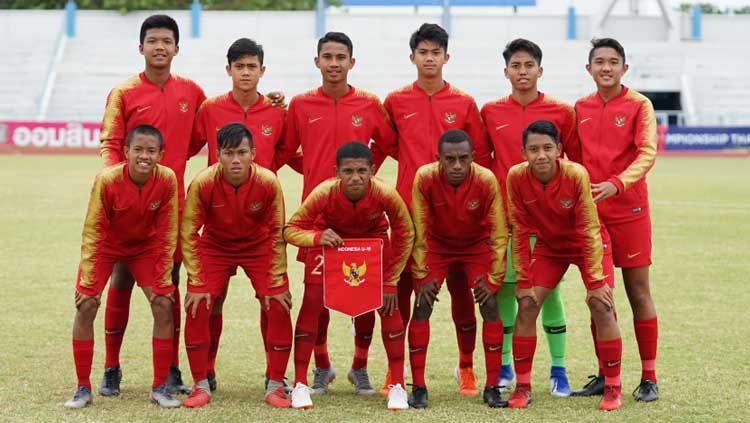 Starting Eleven Timnas Indonesia U-15. Copyright: © pssi.org