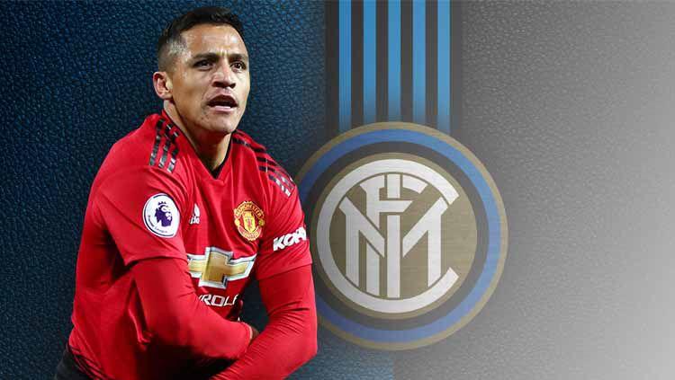 Rekrutan anyar Inter Milan, Alexis Sanchez, punya harapan bahwa klub sepak bola Serie A Italia tersebut mampu mengalahkan Barcelona di Liga Champions 2019/20. Copyright: © footyrenders
