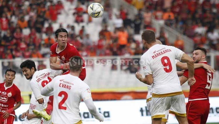 Laga pertandingan Persija Jakarta vs PSM Makassar pada Liga 1 2019 di Gelora Bung Karno Jakarta, Rabu (28/08/2019). Copyright: © Herry Ibrahim/INDOSPORT