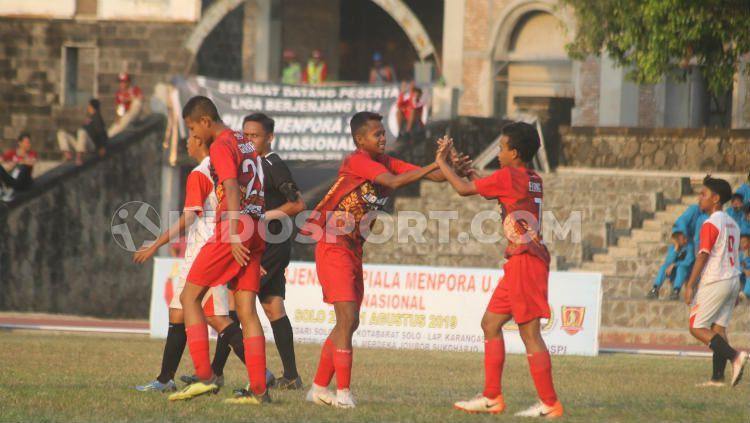 Tim Kelas Khusus Olahraga (KKO) Kota Surakarta yang mewakili Jawa Tengah menjuarai Piala Menpora U-14 2019 Copyright: © Ronald Seger Prabowo/INDOSPORT