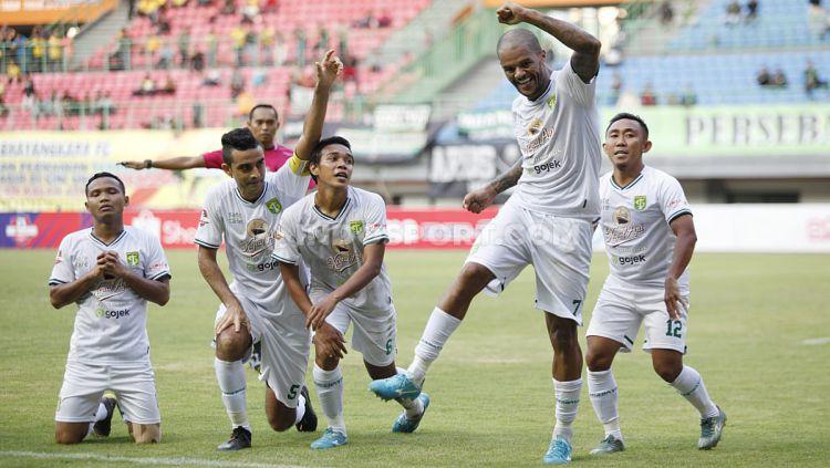 David da Silva berhasil mencetak gol di laga debutnya bersama Persebaya Surabaya di Liga 1 2019 Copyright: © Herry Ibrahim/INDOSPORT