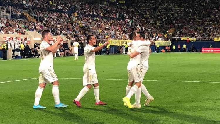 Jelang laga LaLiga 2019/20 lawan Levante, Real Madrid dapat kabar bahagia. Copyright: © Twitter/@realmadrid