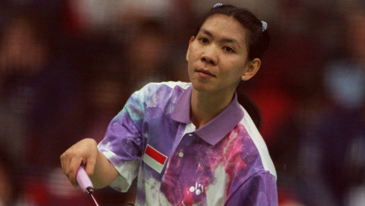 Legenda bulutangkis Indonesia, Susy Susanti dipilih oleh warganet sebagai GOAT di sektor tunggal putri lewat voting dari akun resmi Olimpiade. Copyright: © Tony Marshall/EMPICS via Getty Images