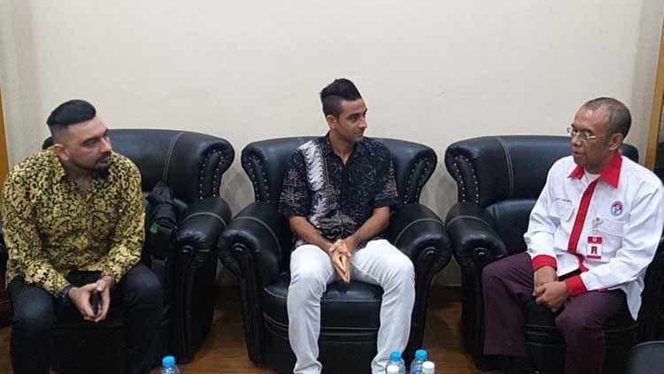 Otavio Dutra saat bertemu dengan Sekretaris Menpora Gatot S Dewa Broto. Copyright: © humas kemenpora