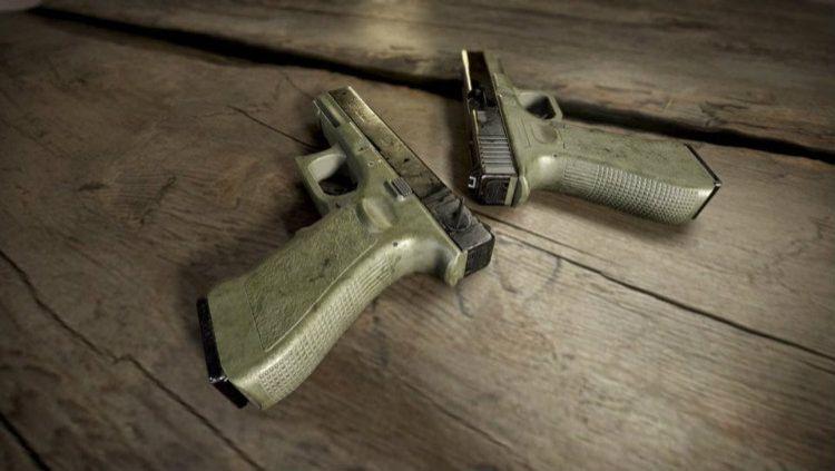 Pistol P18C di Game PUBG Mobile. Copyright: © thegamehaus.com