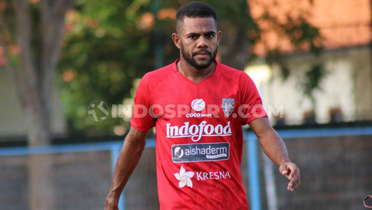 Winger Bali United, Yabes Roni Malaifani menyambut positif rencana Liga 1 dimulai pada 29 Februari 2020. Copyright: © Nofik Lukman/INDOSPORT