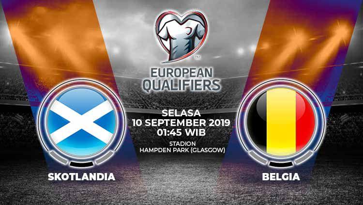 Pertandingan Skotlandia vs Belgia. Copyright: © Grafis: Yanto/Indosport.com