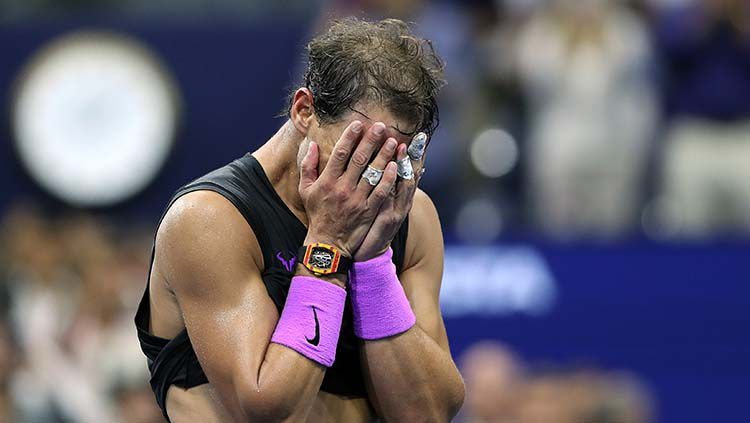 Ekspresi kemenangan Rafael Nadal di final AS Terbuka 2019. Copyright: © Matthew Stockman/Getty Images