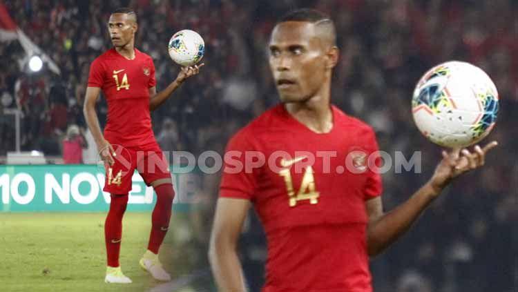 Bek kirim Timnas Indonesia, Ruben Sanadi siap dimainkan menghadapi Thailand, Selasa (10/09/19) nanti malam. Copyright: © Herry Ibrahim/INDOSPORT