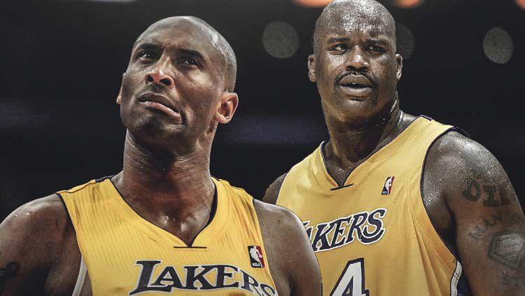 Kobe Bryant dan Shaquille O'Neal, dua legenda LA Lakers. Copyright: © ClutchPoint